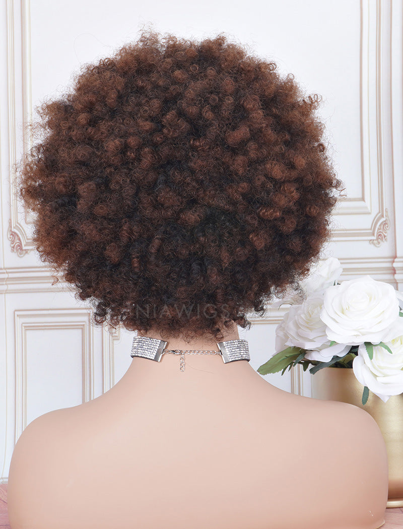 Load image into Gallery viewer, #1b/33 Head Band Wig Human Hair 3A Kinky Curly Machine Made Wigs