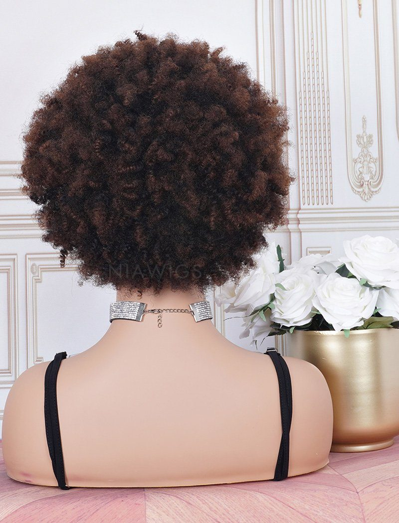 Load image into Gallery viewer, #1b/4 Head Band Wig Human Hair 3A Kinky Curly Machine Made Wigs