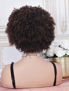 Load image into Gallery viewer, #1b/4 Head Band Wig Human Hair 4C Kinky Curly Machine Made Wigs
