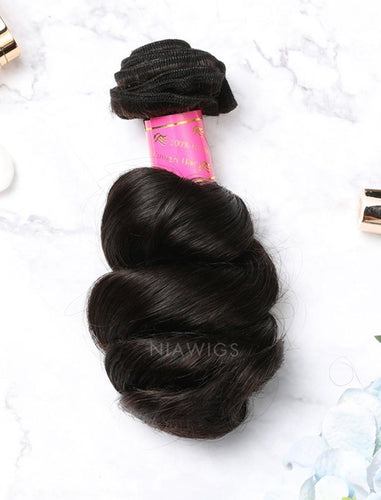 Hair Weft Bundles Natural Color Brazilian Loose Wave Human Hair