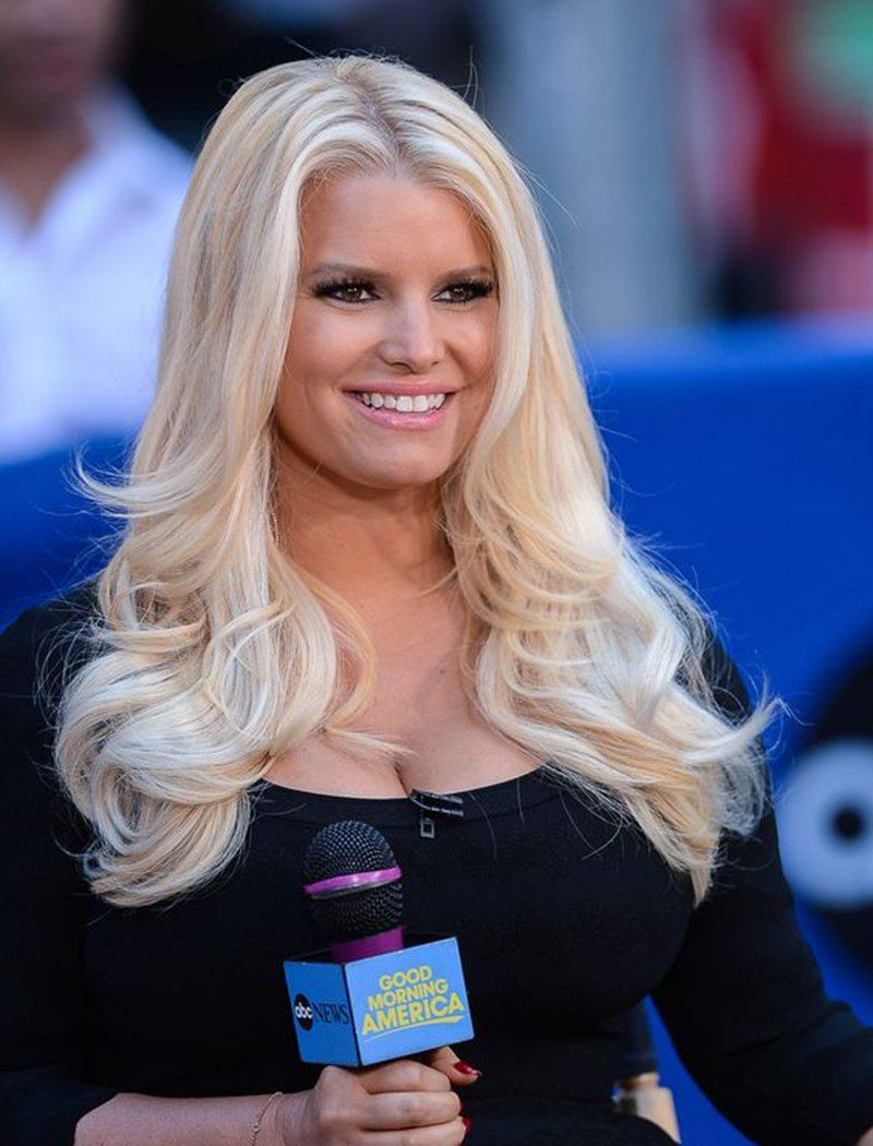 Load image into Gallery viewer, Jessica Simpson Inspired Remy Hair #613 Honey Blonde Celebrity Wigs