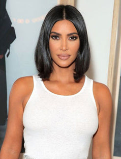 Load image into Gallery viewer, Kim Kardashian Celebrity Short Bob Virgin Hair Lace Front Wig Instock Wigs