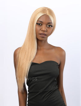 Stephanie||Remy Hair 20 Inches Lace Front Wig #12 Highlight