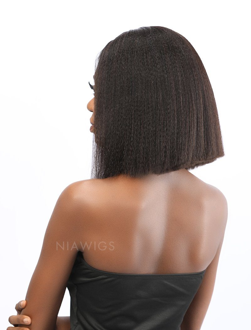 Load image into Gallery viewer, Fiona | Remy Hair 12 Inches Lace Front Wig Yaki Bob