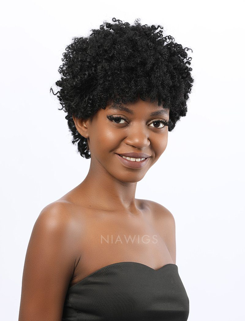 Load image into Gallery viewer, Nia | Remy Hair 8 Inches Lace Front Wig Afro Kinky Curly