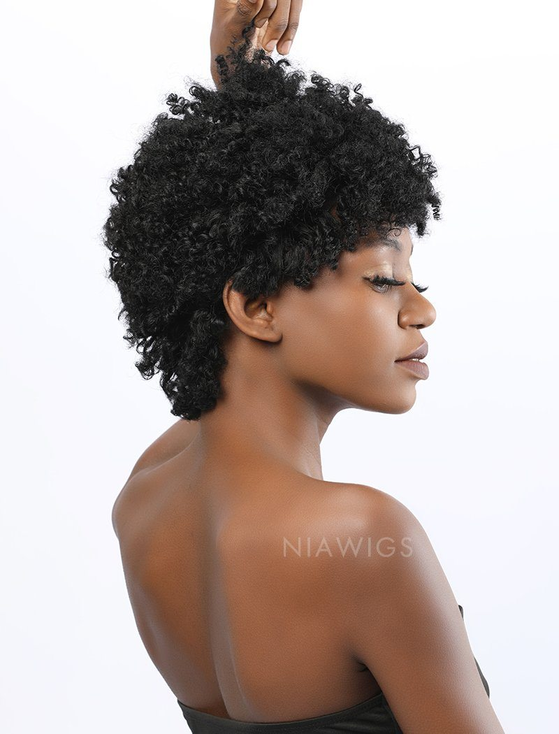 Load image into Gallery viewer, Nia||Remy Hair 8 Inches Lace Front Wig Afro Kinky Curly