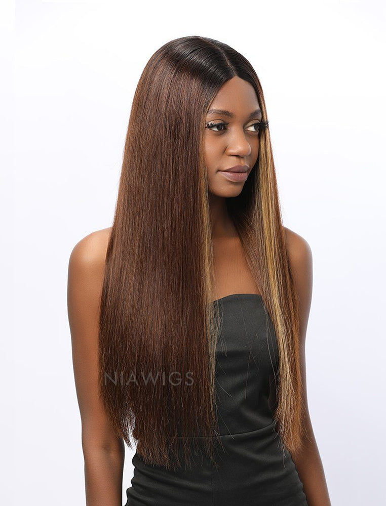 Joanna | Remy Hair 18 Inches Lace Front Wig Highlight