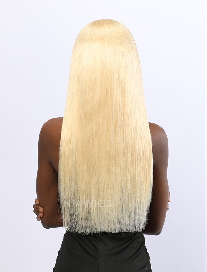 Yolanda Remy Hair 20 Inches Lace Front Wig #613 Honey Blonde