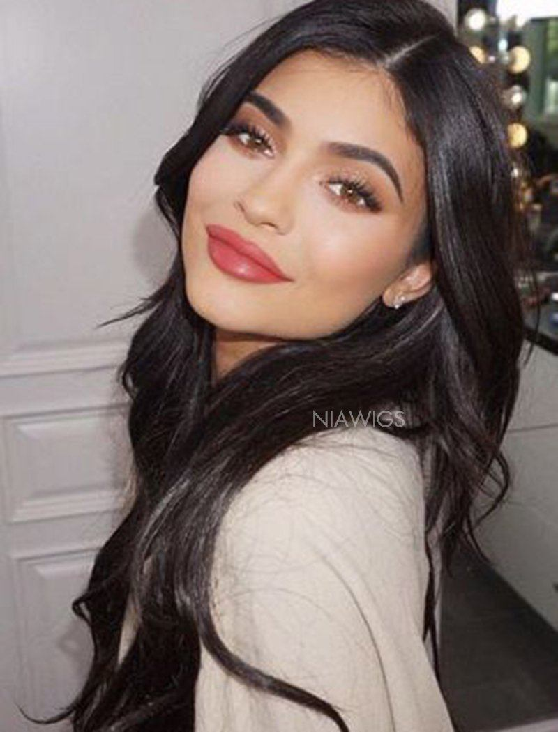 Load image into Gallery viewer, Kylie Kristen Jenner Inspired Virgin Human Hair Natural Wavy Celebrity Wigs