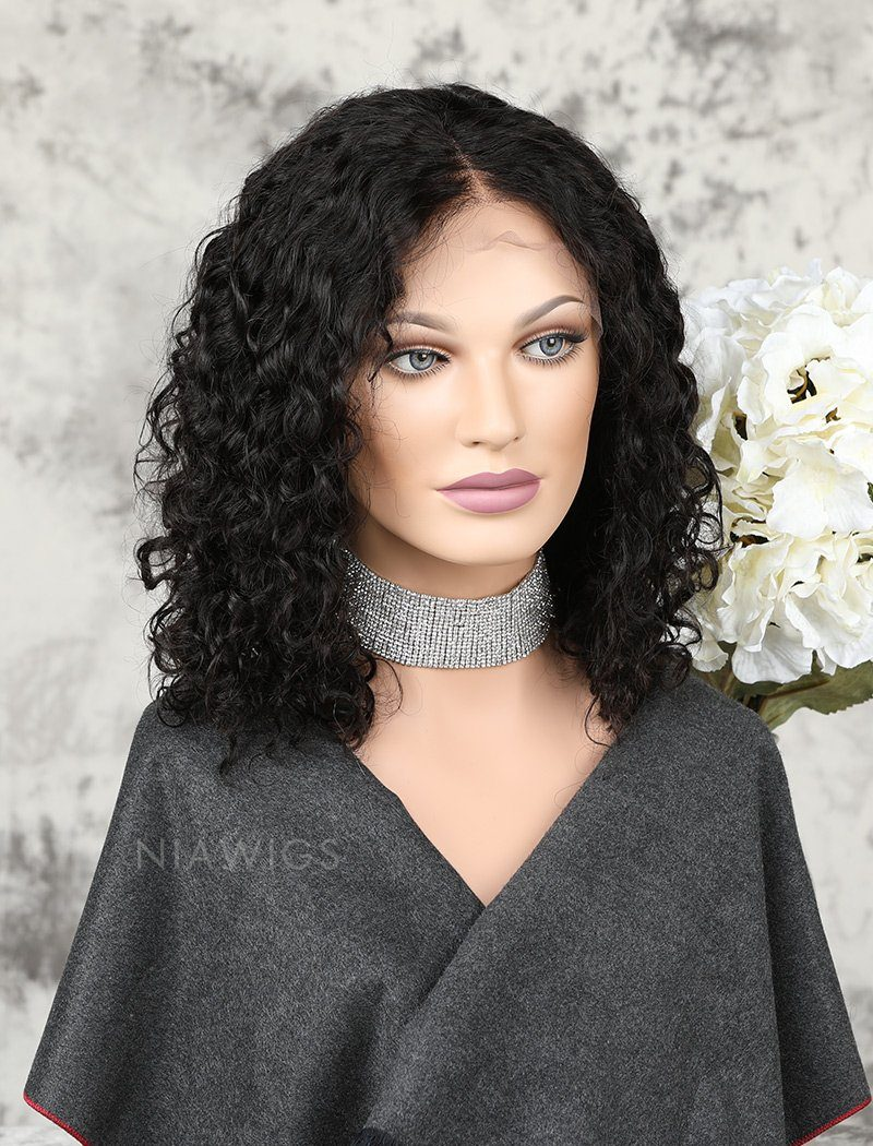 Load image into Gallery viewer, Fashion Bob Glueless Full Lace Wigs Human Hair Curly Bob Wig
