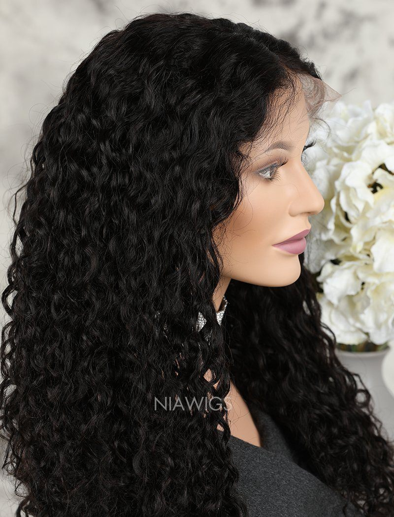 Loose Curly Brazilian Human Hair Glueless Full Stretchable Wigs