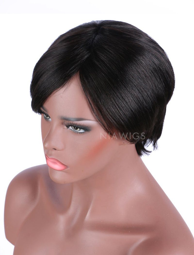 Load image into Gallery viewer, Bob Straight Stock Wig Human Hair 150% Density Full Machine Made Wigs