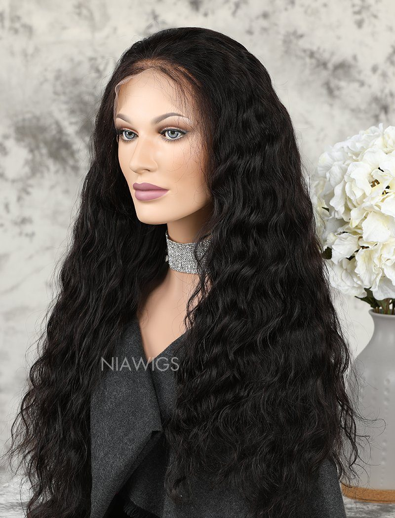 Load image into Gallery viewer, Best Selling Natural Wavy Human Hair Glueless Full Lace Wigs With Baby Hair