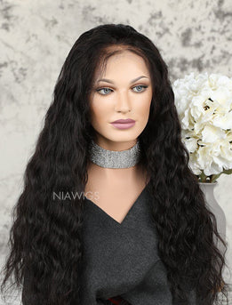 Best Selling Natural Wavy Human Hair Glueless Full Stretchable Wigs With Baby Hair