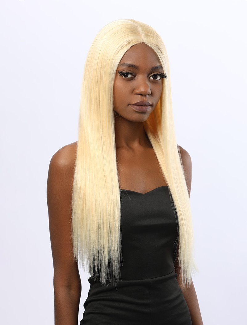 Yolanda | Remy Hair 20 Inches Lace Front Wig #613 Honey Blonde