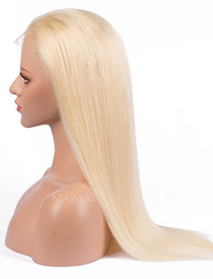 Load image into Gallery viewer, #613 Blonde Silky Straight Human Hair Lace Front Wigs