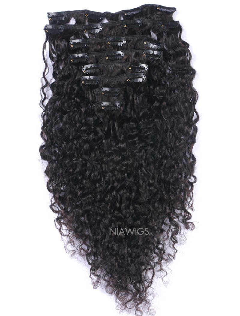 Clip-In Hair Extensions Brazilian Hair Curly