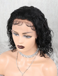 Load image into Gallery viewer, Natural Wave Human Hair Glueless Full Tied Wigs With Removeable Bands