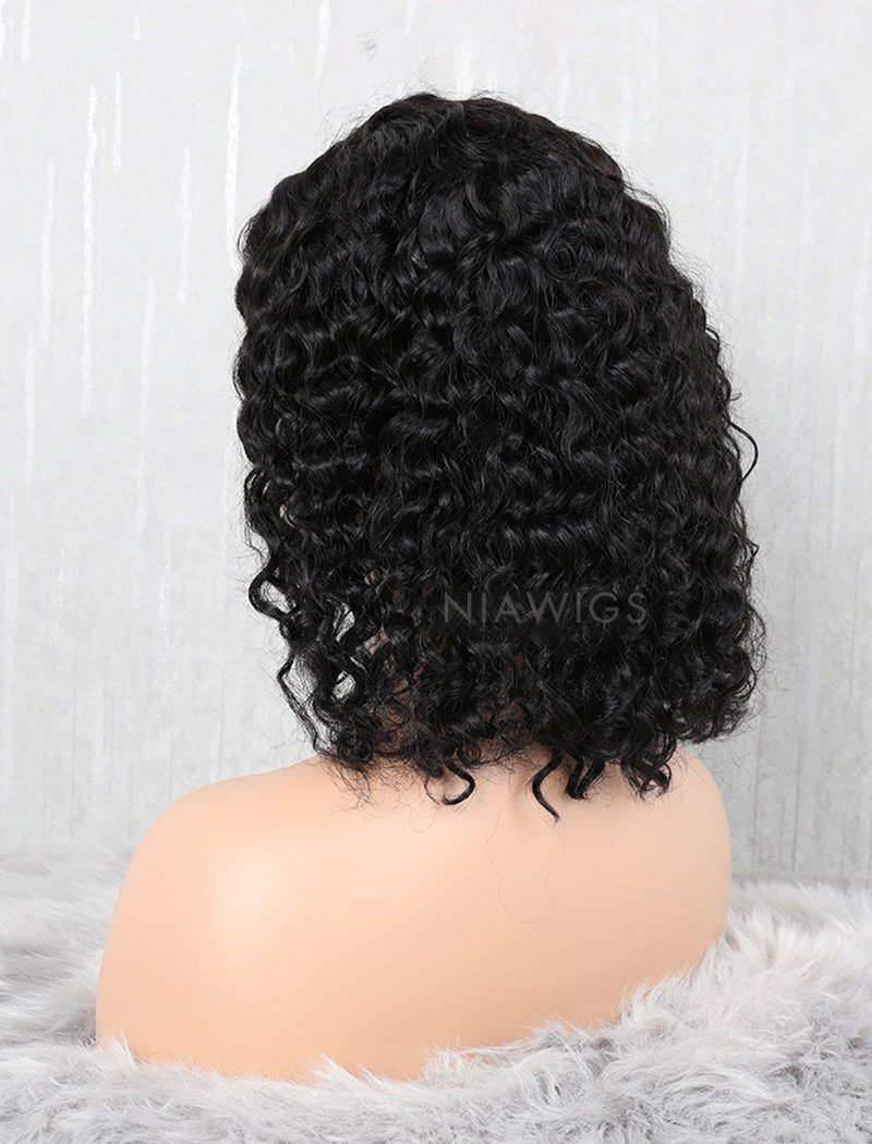 Load image into Gallery viewer, Curly Bob Human Hair Glueless Full Stretchable Wigs With Removeable Bands