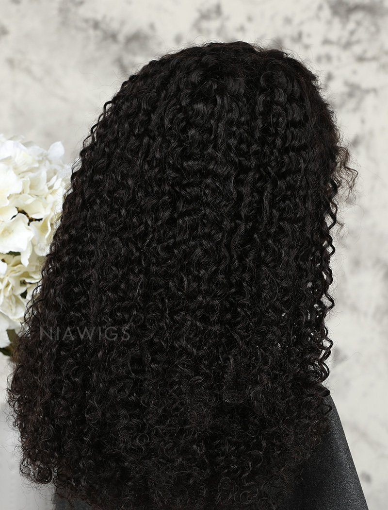 Load image into Gallery viewer, Tight Curls Human Hair Glueless Full Stretchable Wigs With Preplucked Natural Hairline