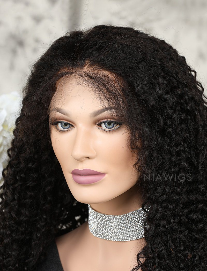 Load image into Gallery viewer, Tight Curls Human Hair Lace Front Wigs With Preplucked Natural Hairline