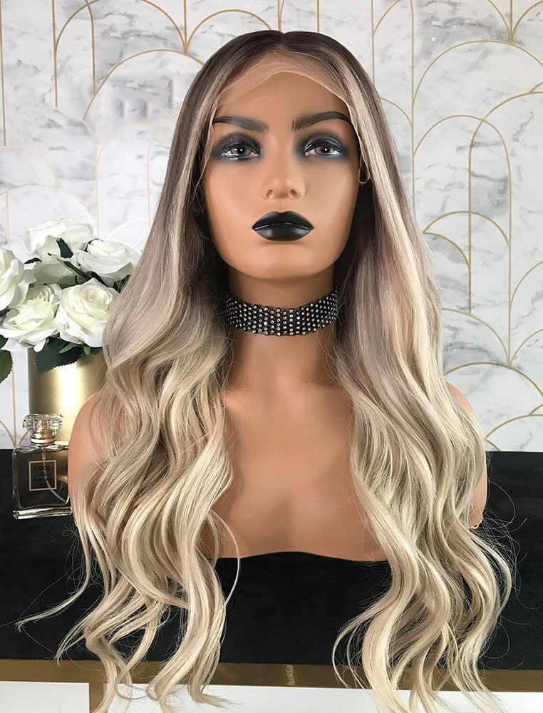Laura | Virgin Hair 22 Inches Glueless Full Stretchable Wig Balayage