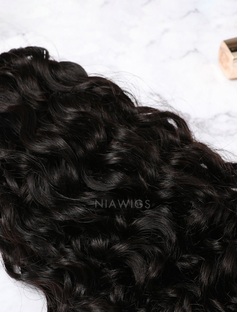 Load image into Gallery viewer, Hair Weft With Lace Closure Natural Color Brazilian Curly Human Hair