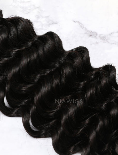 Load image into Gallery viewer, Hair Weft Bundles Natural Color Brazilian Deep Curly Human Hair