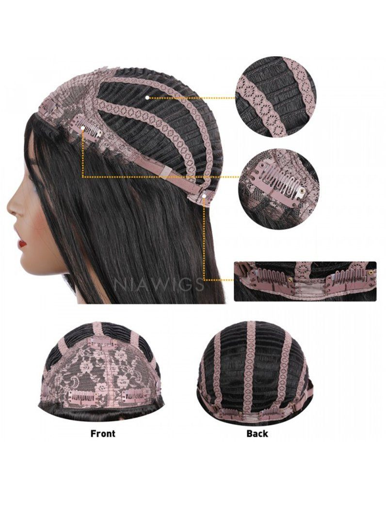 Load image into Gallery viewer, Kinky Straight Stock Wig Natural Color Human Hair Machine Made Wigs