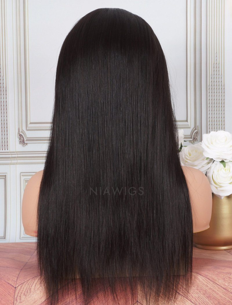 Headband Wig Silky Straight Human Hair Wigs (WITH ONE FREE TRENDY HEADBAND)