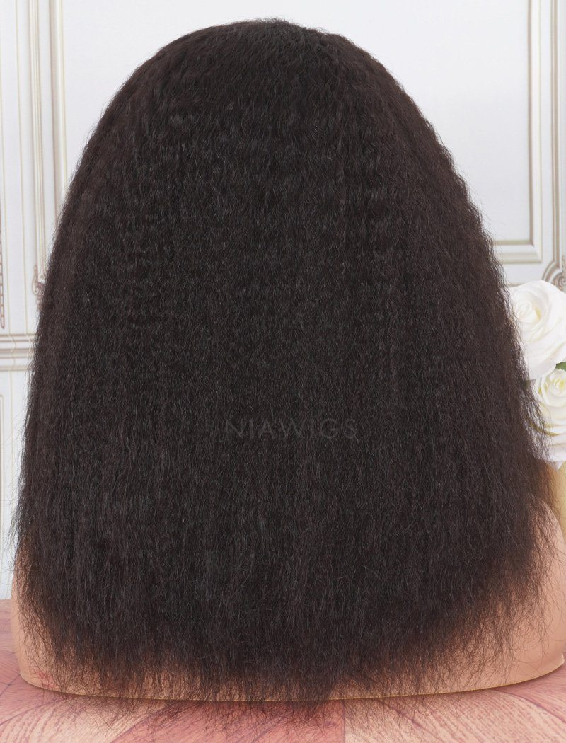 Headband Wig Kinky Straight Human Hair Wigs (WITH ONE FREE TRENDY HEADBAND)