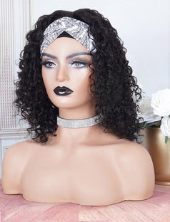 Load image into Gallery viewer, Head Band Wig Curly Human Hair Machine Made Wigs