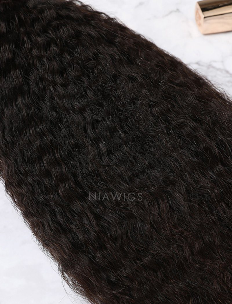 Load image into Gallery viewer, Hair Weft With Lace Closure Natural Color Brazilian Kinky Straight Human Hair
