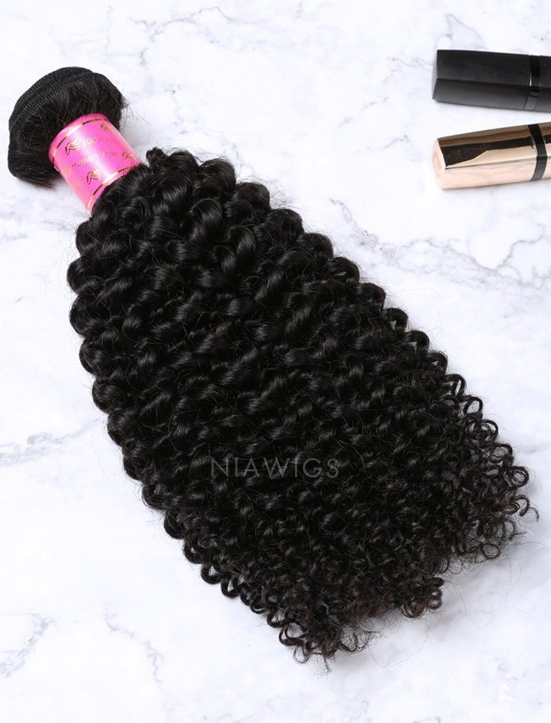 Load image into Gallery viewer, Weft Bundles Natural Color Brazilian Kinky Curly Human Hair