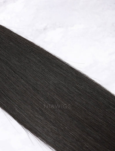 Hair Weft Bundles Natural Color Brazilian Silky Straight Human Hair