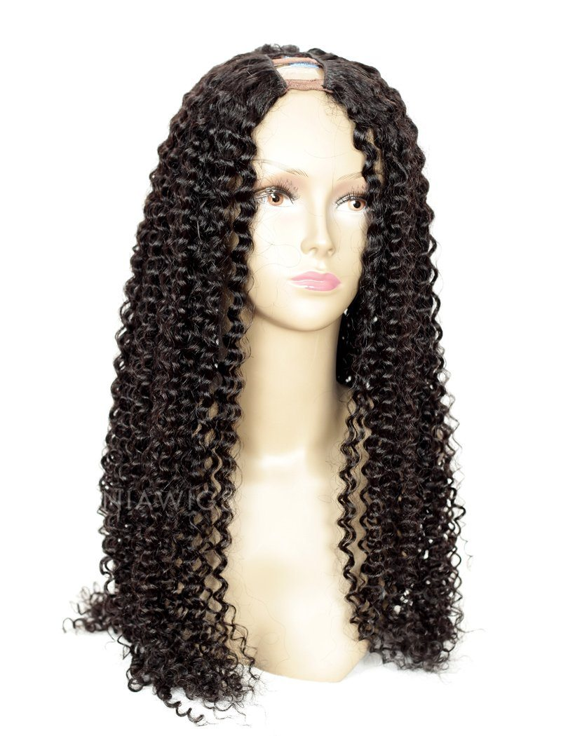 Load image into Gallery viewer, Kinky Curly Uparting Human Hair Wigs With Middle Part Opening