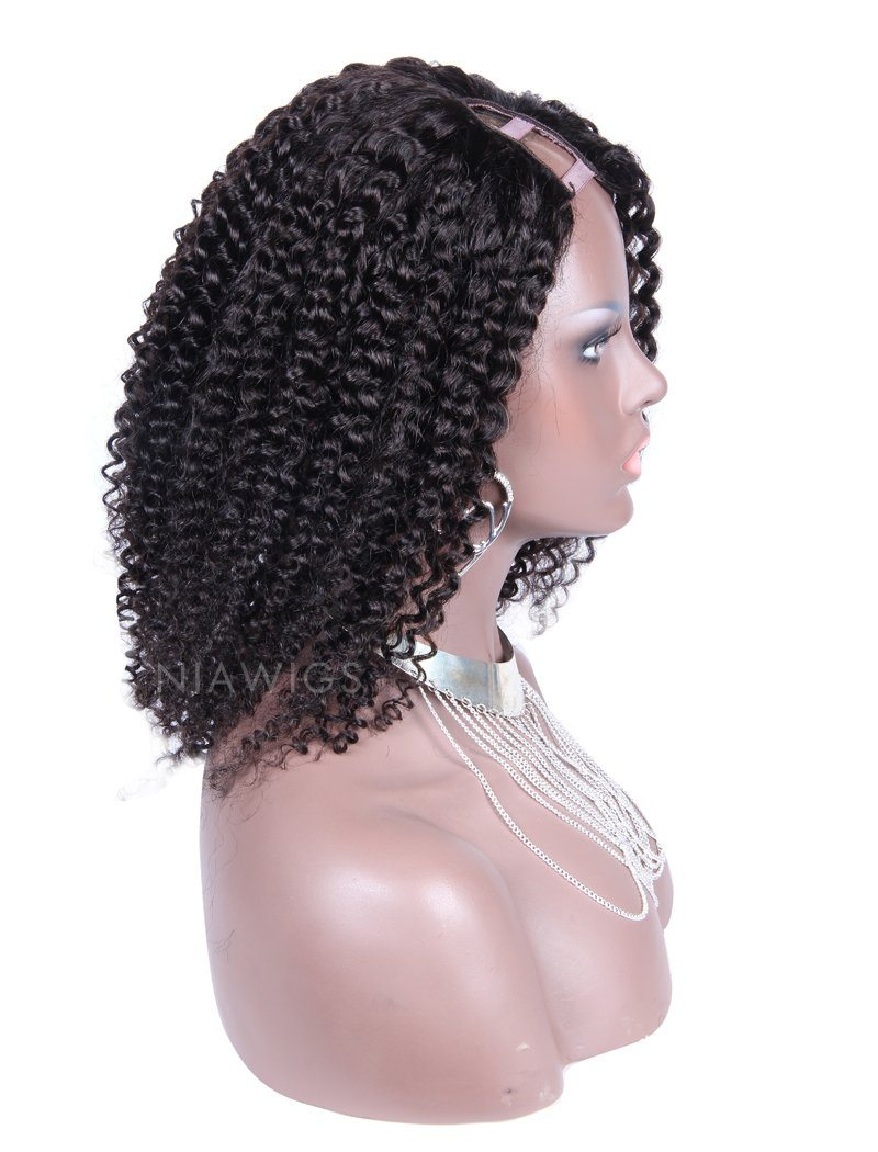 Load image into Gallery viewer, Afro Kinky Curly Human Hair Upart Wigs With Right Opening Part