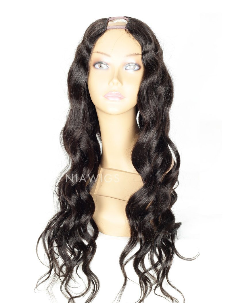 Load image into Gallery viewer, Loose Wavy U Part Human Hair Wigs With Natural Color