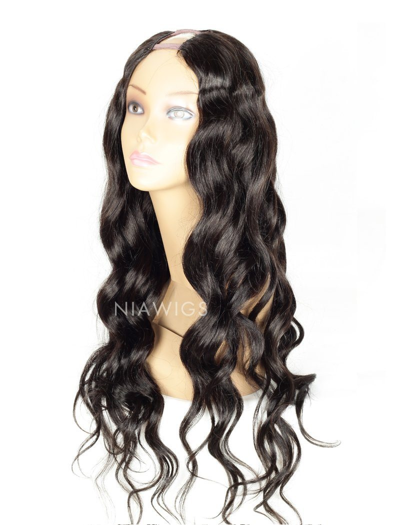Loose Wavy U Part Human Hair Wigs With Natural Color