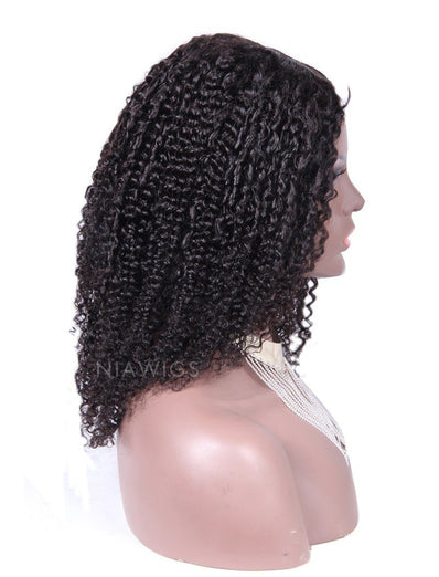 Tight Curly U Part Human Hair Wig Middle Parting Upart Wigs