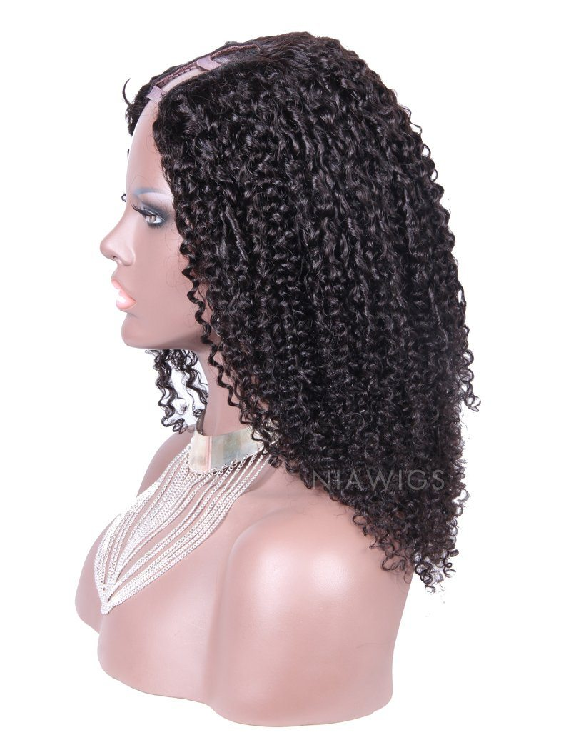 Load image into Gallery viewer, Tight Curly U Part Human Hair Wig Middle Parting Upart Wigs