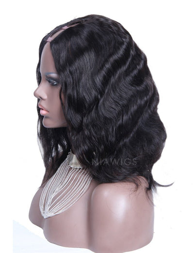 Leilani Body Wave U Part Human Hair Wig Middle Parting Upart Wigs