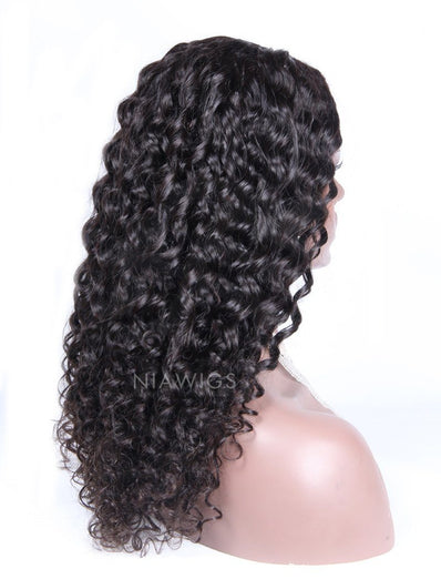 Best Selling Curly U Part Human Hair Wig Natural Black Upart Wigs
