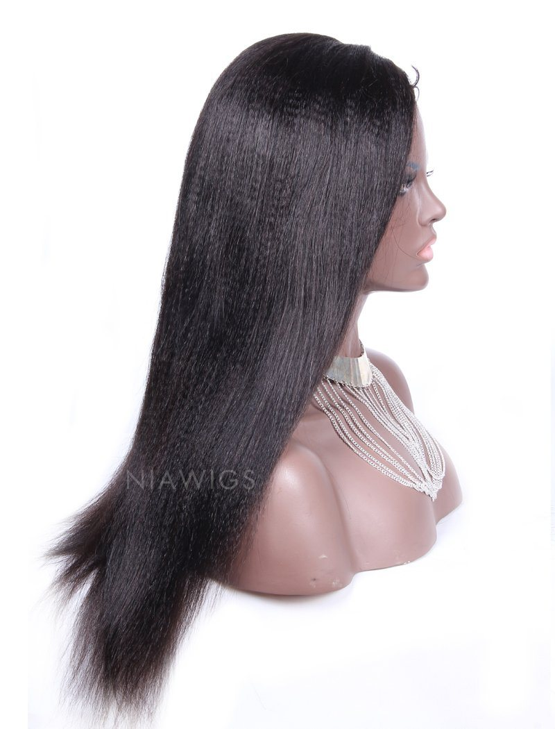 Load image into Gallery viewer, Yaki Straight U Part Human Hair Wig Left Part Opening Upart Wigs