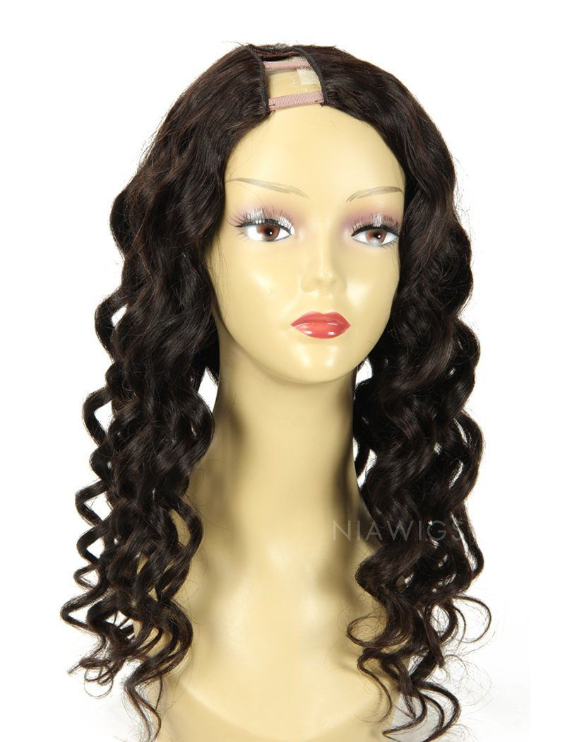 2020 New Arrival Loose Wavy U Part Human Hair Wigs