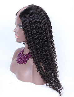 Load image into Gallery viewer, Loose Curly U Part Human Hair Wig Natural Black Upart Wigs