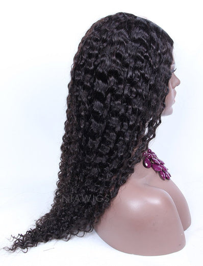 Loose Curly U Part Human Hair Wig Natural Black Upart Wigs