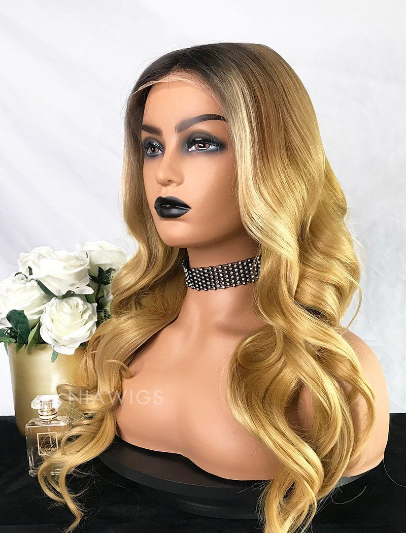 Brenda Virgin Hair 22 Inches Glueless Full Stretchable Wig Balayage