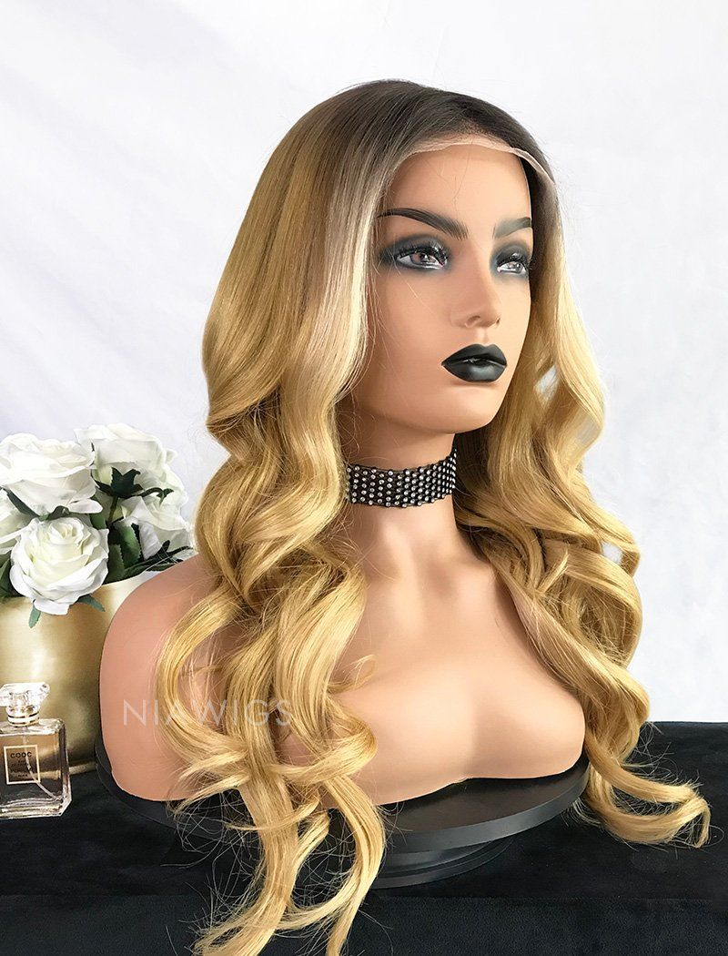 Load image into Gallery viewer, Brenda | Virgin Hair 22 Inches Glueless Full Lace Wig Balayage