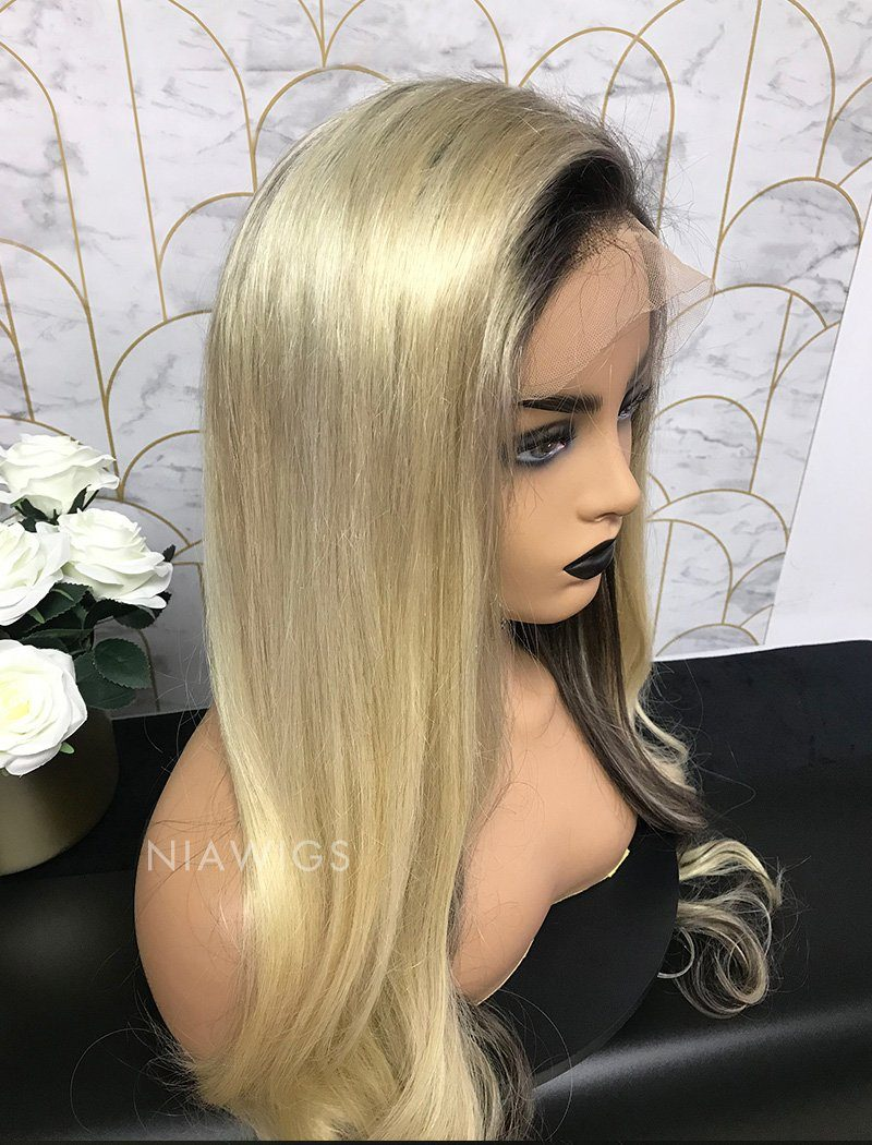 Alexia Remy Hair Lace Front Wig 24 Inches Balayage
